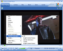 ratDVD movie playback with different audio tracks (languages)